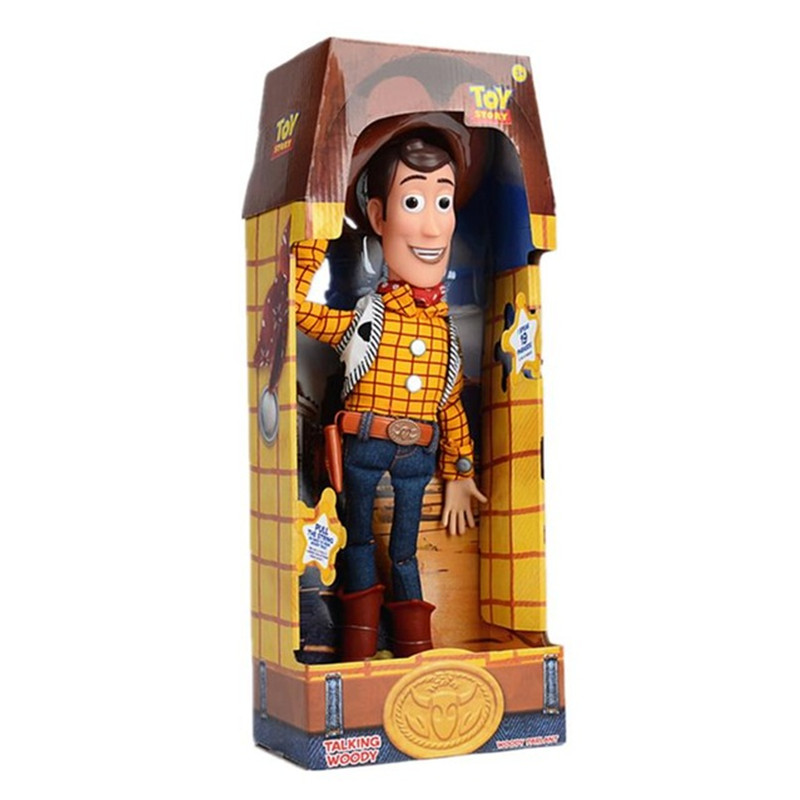 40cm 1pc High Quality  Story 3 Talking Woody Action Toy Figures Model Toys Car Sticker Children Christmas Gift Free Shipping
