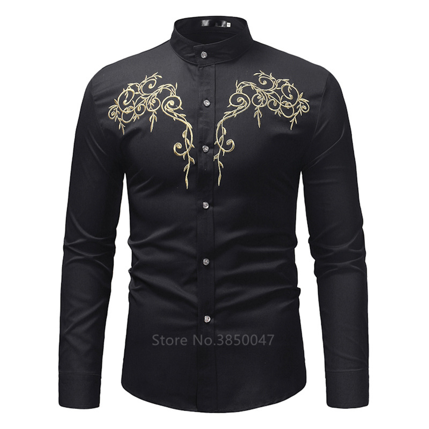 2020 African Clothes for Men Shirt Dashiki Long Sleeve Embroidery Rich Bazin Print Traditional Africa Fashion Dresses Clothing 1
