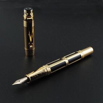 цена Old Stock Wing Sung Fountain Pen Metal Ink Pen Converter Filler F Nib Business Stationery Office school supplies Writing Gift онлайн в 2017 году