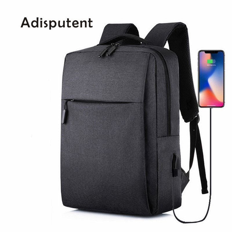 Usb Backpack Rucksack Laptop School-Bag Travel Anti-Theft Adisputent Mochila Male Men