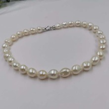 2019 New AA 12*12-15mm natural baroque pearl necklace 45cm
