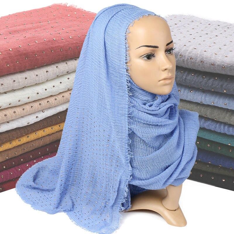 Diamond wrinkle cotton shawls muslim hijab   scarves     wraps   fringe pleat headband autumn   wraps   long   scarf   10pcs/lot