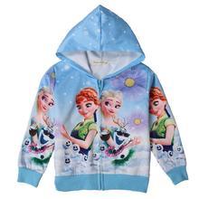 Girls Jackets Anna Elsa Baby Jacket Thin