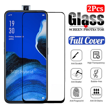 Перейти на Алиэкспресс и купить 2 шт 3D полное покрытие защитное стекло для oppo reno 2 Z закаленное стекло для oppo reno 2 Защита экрана для op reno2 z reno 2z 6,5дюйм