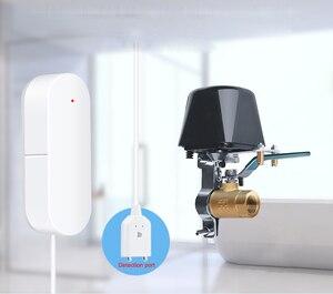 Image 2 - Tuya Alexa Google ev IFTTT akıllı kablosuz kontrol gaz su vanası akıllı yaşam WiFi sensörü bağlantı kapalı denetleyici