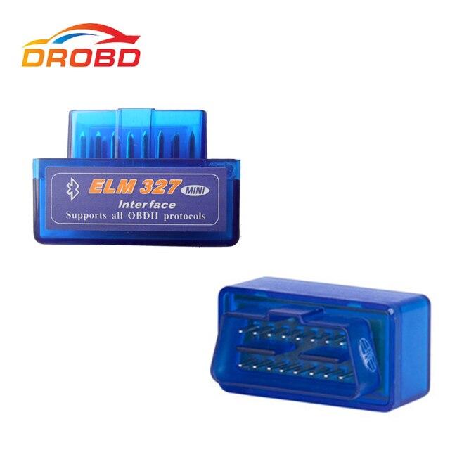 New Version Diagnostic Tool Code Reader V2.1 Blue Color Super Mini ELM327 ELM 327 Bluetooth OBD II OBD OBD2 Scanner