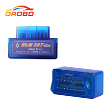 Super Mini ELM327 ELM 327 – outil de Diagnostic de voiture, lecteur de Code V2.1, Bluetooth OBD II, Scanner OBD, prise OBD2, couleur bleue, nouvelle Version
