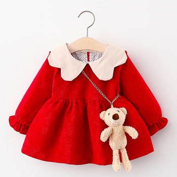 Autumn Newborn Baby Girl Dress Casual Long Sleeve Princess Infant Dresses for Baby Girls Clothing Birthday Toddler Girl Clothes long sleeve baby girl dress newborn princess infant baby girl clothes mesh tutu ball gown party dresses little girls clothes