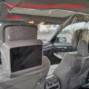 1,4 X2 meter Auto Taxi Isolation Film Kunststoff Anti-Fog Vollen Surround Schutzhülle Net Cab Vorne Hinten Reihe PVC Film Für Cockpit