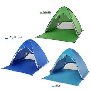 Image 2 - KEUMER 1 2 kişi açık plaj çadırı Pop up açık kamp balıkçı çadırı taşınabilir su geçirmez UV koruyucu çadır barınak