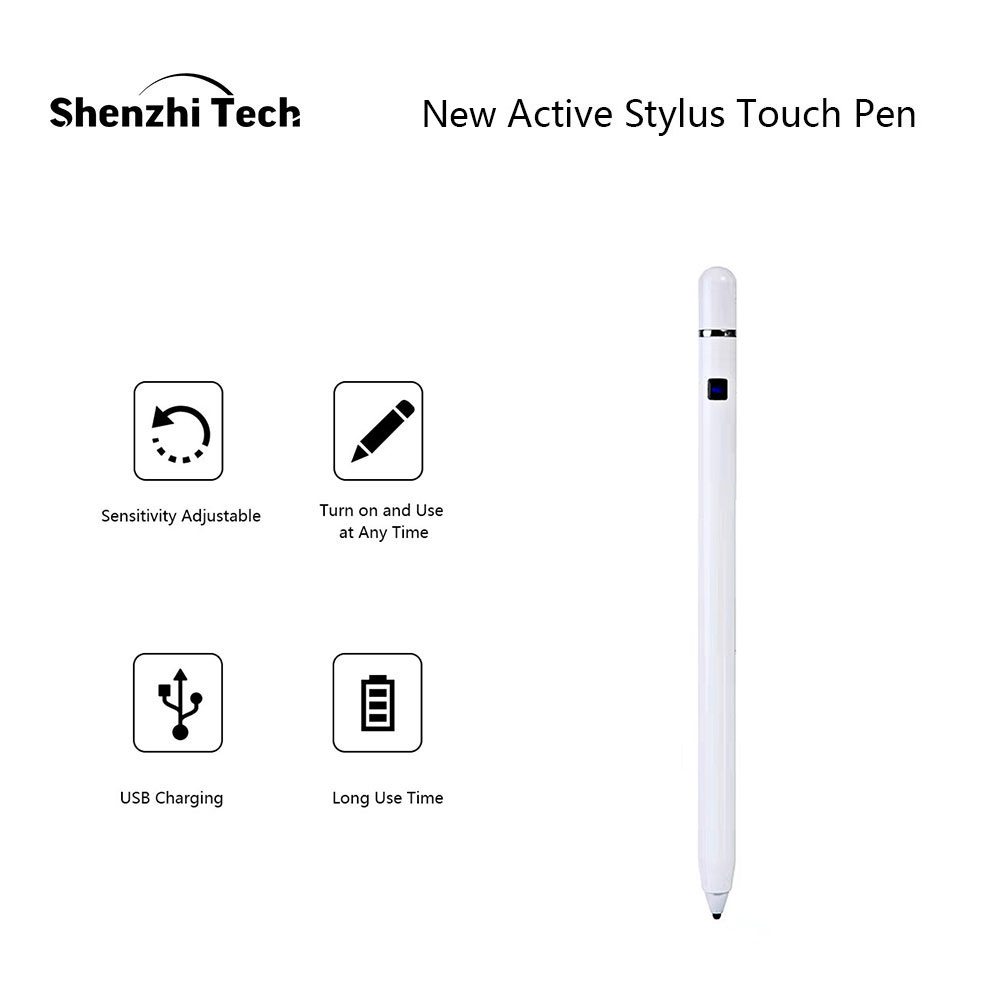 Active Stylus, Smart Stylus Pen Adjustable High Sensitivity Touch Pen For Surface IPad Phone Android Tablet Smartphone