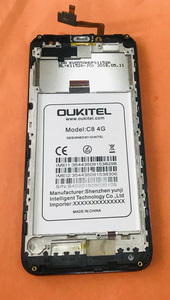 Image 2 - تستخدم الأصلي شاشة الكريستال السائل شاشة تعمل باللمس الإطار ل Oukitel C8 4G MTK6737 رباعية النواة شحن مجاني