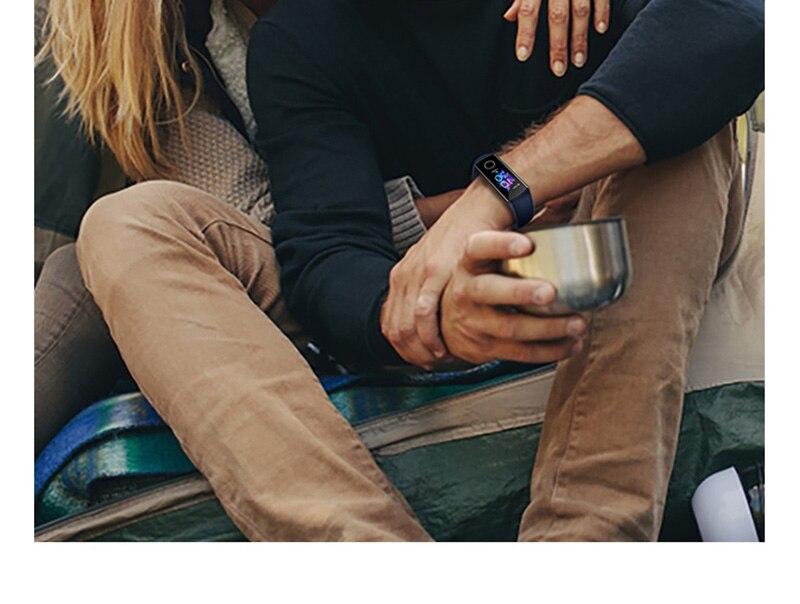H027c6316ff1c4b748964f923d0d274cbW Original Huawei Honor Band 5 Smart Wristband Oximeter Magic Color Touch Screen Swim Stroke Detect Heart Rate Sleep Nap