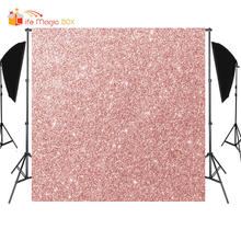 LIFE MAGIC BOX Photograph Rose Gold Color Sparkle Photo Background Photography Backdrops for Video(China)