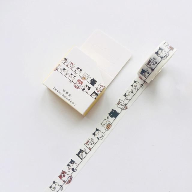Cute Kawaii Adorable Cat Adhesive Paper Washi Tape Masking Tape DIY Scrapbooking Stick Label 3