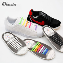 Unisex Fashion Design Athletic Running No Tie Shoe lace Elastic Lazy Silicone Shoelaces All Sneakers for Adult(16pcs)