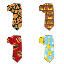 Party Neckties For Man 8cm Classic Animal Painted Wedding Tie Groom Men's Slim Novelty Ties Business Accessories