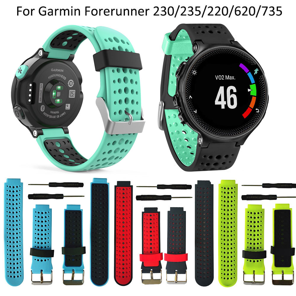 Replacement Silicone Watch Wrist Band Strap For Garmin Forerunner 235 630 230 GPS Watch Wristbands Bracelet Smart Accessories