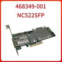 Porto pciex8 duplo 10 bps 10g do ethernet sfp para hp adaptador 468349-001 468332-b21 nc522sfp do servidor