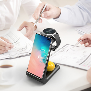 Image 5 - QI 3 In 1 Wireless Charger For Iphone 11/XS/X/Airpods pro/Iwatch 5/4 Fast Charge Wireless Charge Stand For Samsung S10/Bud/Watch
