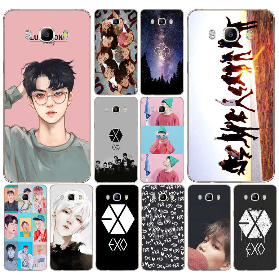 132DD Kpop exo Lucky one Soft Silicone  Case Cover for Samsung Galaxy a3 a5 2017 A6 A8 2018 j3 j5 j7 2016 2017