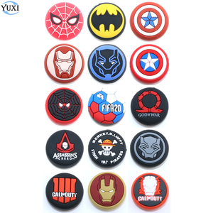 Image 1 - YuXi 1pc Silicone Analog Joystick Stick Grips Cover for PlayStation 4 PS4 Pro Slim PS3 Controller Sticks Caps for Xbox One 360