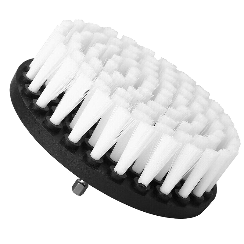 2Pcs 5 Inch Soft Electric Drill Brush Cleaner Tool for Cleaning Carpet Leather White