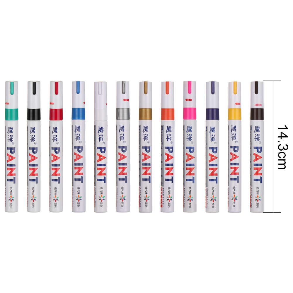 Pittura ambientale della gomma del battistrada della gomma dell'automobile della penna di pennarello permanente di gomma impermeabile bianca di 13 colori Dropshipping