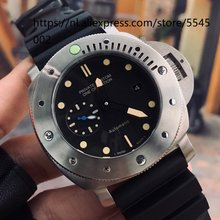 44mm men's watch high-end automatic mechanical sapphire strap black dial white shell watch male date waterproof wholesale