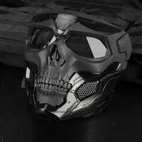 Máscaras tácticas de calavera de Paintball máscaras de caza transpirables al aire libre máscara de calavera militar de cara completa de seguridad Airsoft Paintball máscaras