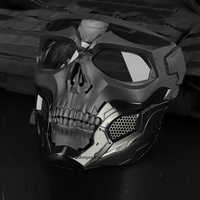 Taktische Paintball Schädel Masken Outdoor Atmungsaktive Jagd Schießen Schädel Maske Militär Volle Gesicht Sicherheit Airsoft Paintball Masken