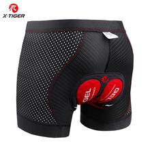 X-tiger ciclismo roupa interior atualizar 5d acolchoado ciclismo shorts 100% lycra à prova de choque mtb bicicleta shorts de estrada