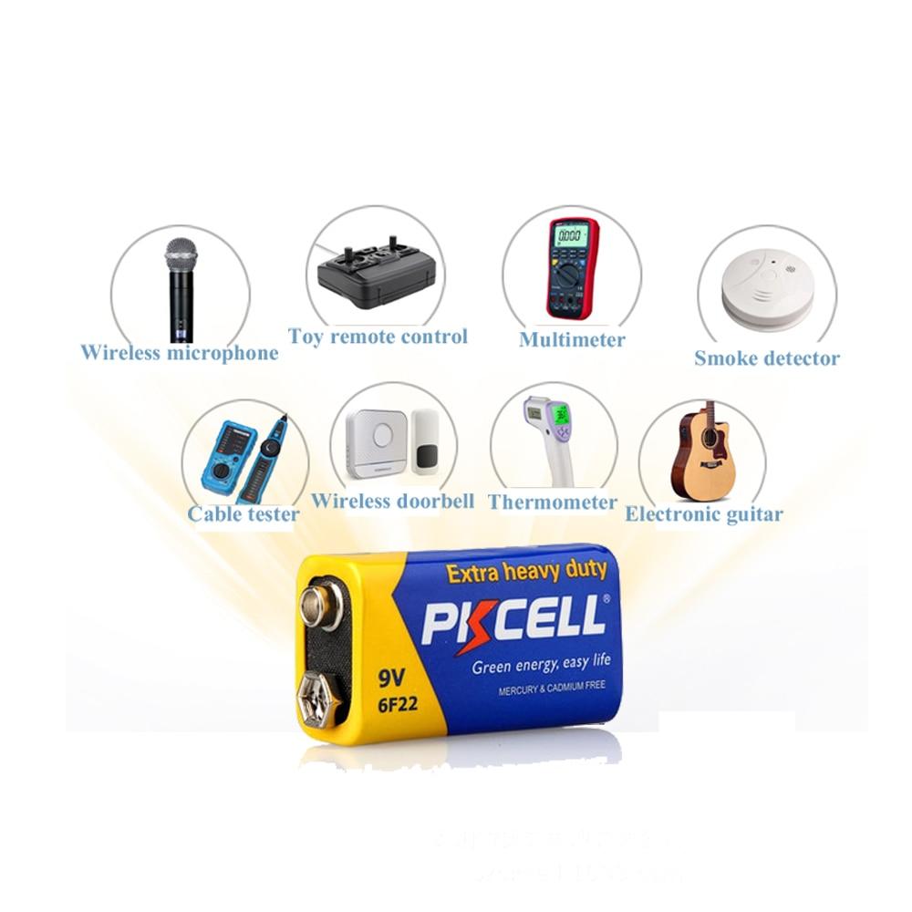 10 шт * Аккумуляторная батарея pkcell 9В 6f22 сверхтяжелые аккумуляторы