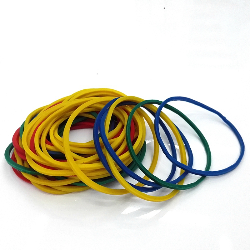 50 Pieces/Pack School Office Home And Industrial Rubber Band Fashion Stationery Package Holders Colorful Nature Rubber Bands
