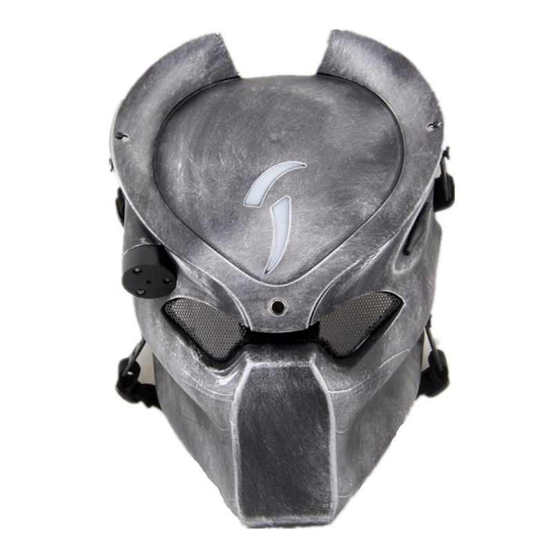 Alien Vs Predator Eenzaam Wolf Airsoft Paintball Masker Cosplay Halloween Party Masker Cs Wargame Militaire Tactische Full Face Maskers