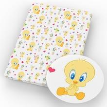 50*140 см Животные фрукты дизайн полиэстер хлопок ткань для ткани Дети Домашний текстиль для шитья куклы Детская одежда, c4833