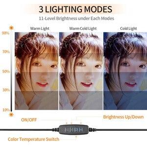 Image 2 - Светодиодный кольцевой светильник 6 дюймов, 10 дюймов, 16 см, 26 см, держатель для телефона, селфи, мини Трипод, кольцевая лампа для iphone, huawei, xiaomi, Youtube, прямая трансляция