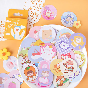 45Pcs/box Cute maker diy stickers decoration diary photo album scrapbooking planner label sticker stationery 45pcs pack magic rabbit alice sticker mini paper diary label sealing scrapbooking decoration diy album stickers stationery
