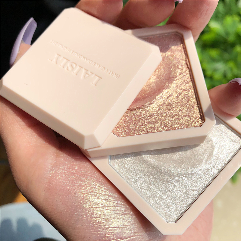 NewDouble-layer Highlighter Shadow Facial Makeup Face Bronzer High Gloss Shimmer Powder Makeup Cosmetic High-gloss Powder