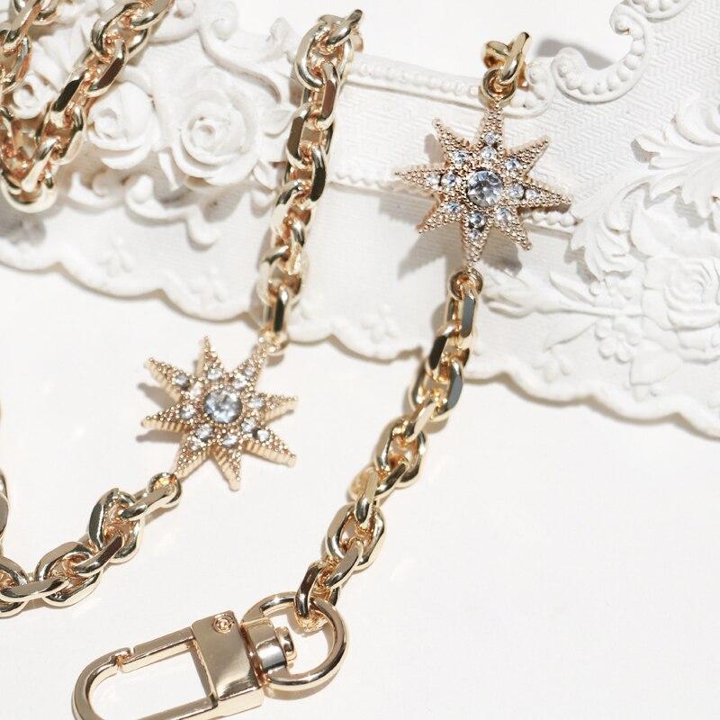 DIY 50cm-160cm Replacement Gold Metal Chain Shoulder Straps For Clutch Bags, Small Handbags Fashion 7mm Bag Handles Bag Straps