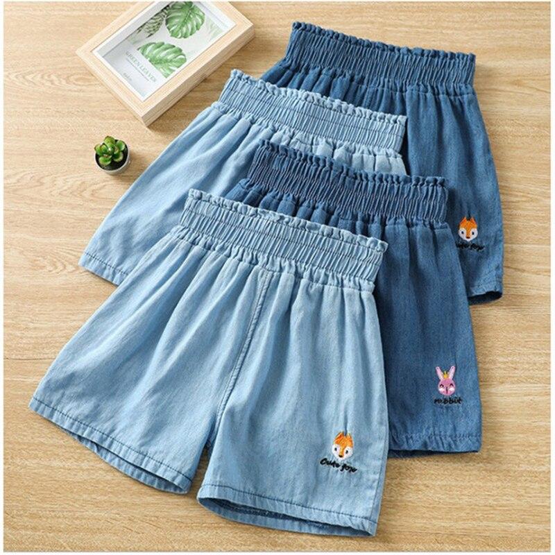 Summer Girls Boys Jeans Shorts Kids Clothes Baby Girl Boy Cartoon Rabbit Fox Denim Short Korean Toddler Cotton Casual Pants