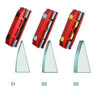 Limpador de janela magnético portátil  limpador de vidro para janelas dupla face