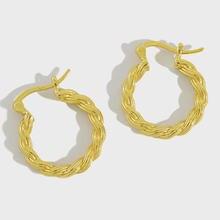 Серьги кольца flyleaf в простом стиле женские золотистые модные