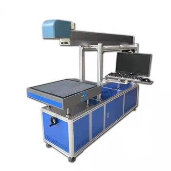 Il trasporto libero 10/20 volte spot laser ad anidride carbonica macchina di marcatura RF 30W legno cer