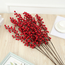 76cm of Artificial red Fruit plant branch DIY fake flowers bouquet for natual creative home garden living room decoration