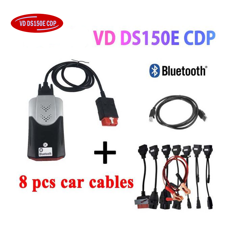 2019 NEW VCI Vd Ds150e C-d-p Pro Plus 2016.r0 With Keygen For Delphis Obd2 Diagnostic Repair Tool Scanner For Cars Trucks