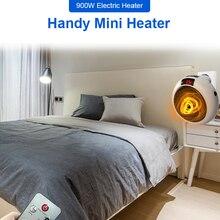 Электрический нагреватель для дома 900 Вт маленький вентилятор для обогрева домашнее Отопление Электрический теплый воздух вентилятор для ...