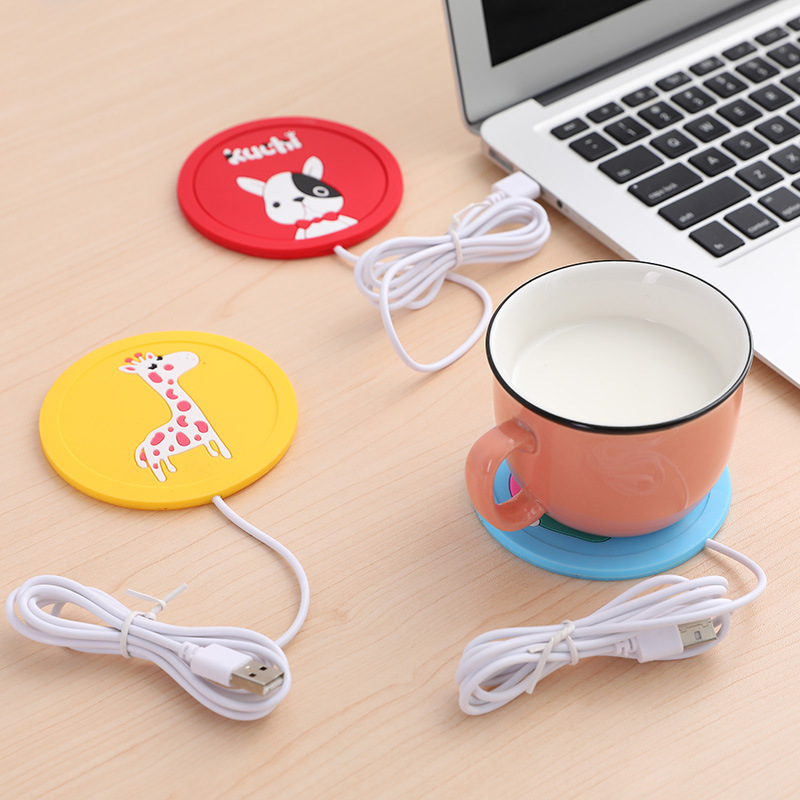 USB Cartoon Original USB Wood Grain Cup Warmer Heat Beverage Mug Mat Keep Drink Warm Heater Mugs Coaster