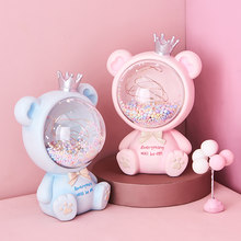 Nordic Style Decorations for The Room Bear Creative Decorations Luminous Decoration Room Bedside Table Figurines Girlish Gift