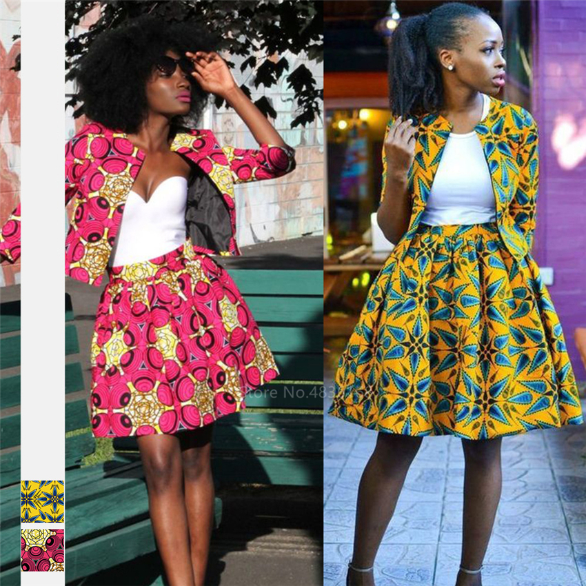 Fashion Ladies African Clothes 2020 News Coat Tutu Skirts Ankara Style Dashiki Print African Dresses For Women Robe Africaine